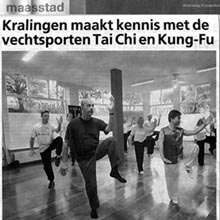 Tai Chi in newspaper